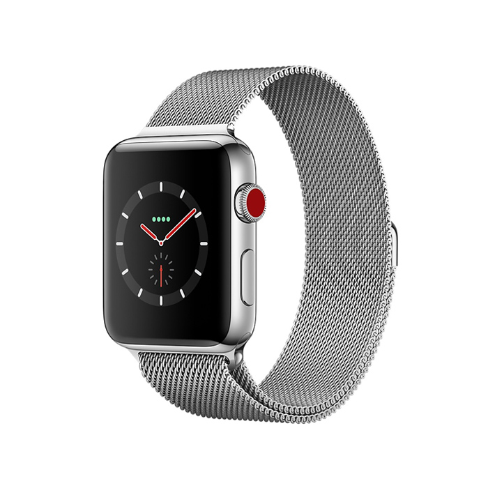 apple watch s3 stainless steel milanese loop 00