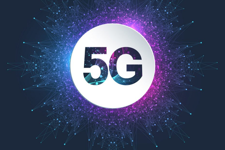 5G Logo network wireless systems and internet vector illustration. 5G banner concept. Vector sign, symbol 5G. Technology sci fi concept